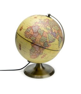 Balvi Antieke Globe - wereldbol met lamp