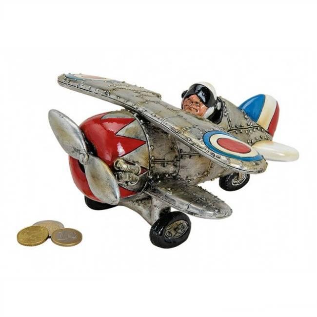 Spaarpot Vliegtuig met Propellor Groot
