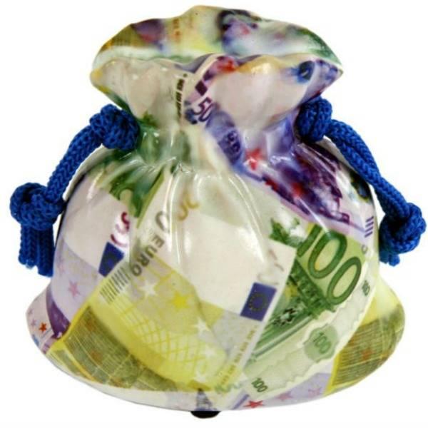 Spaarpot Zak met Geld