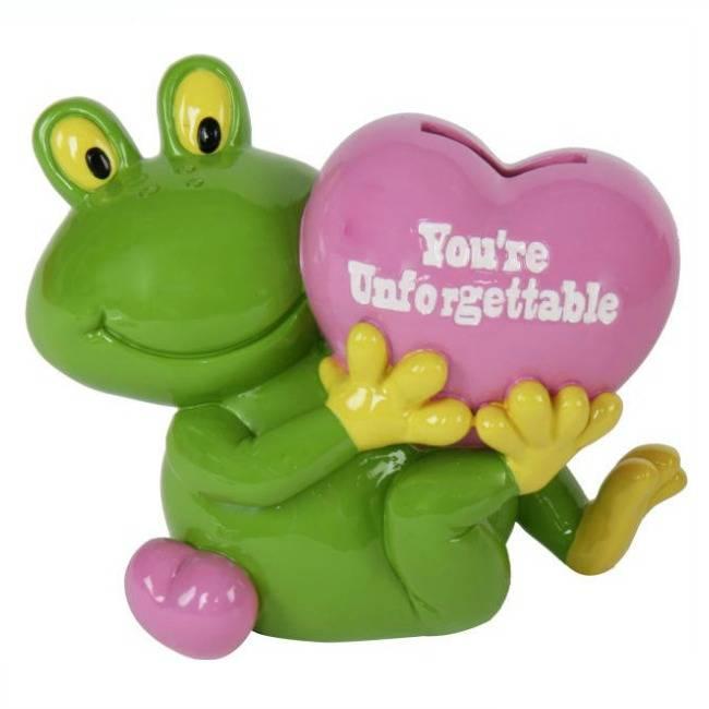 """Spaarpot Kikker """"You're unforgettable"""""""