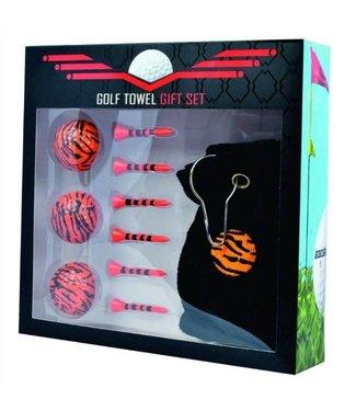 Golfhanddoek cadeauset Tijgerprint