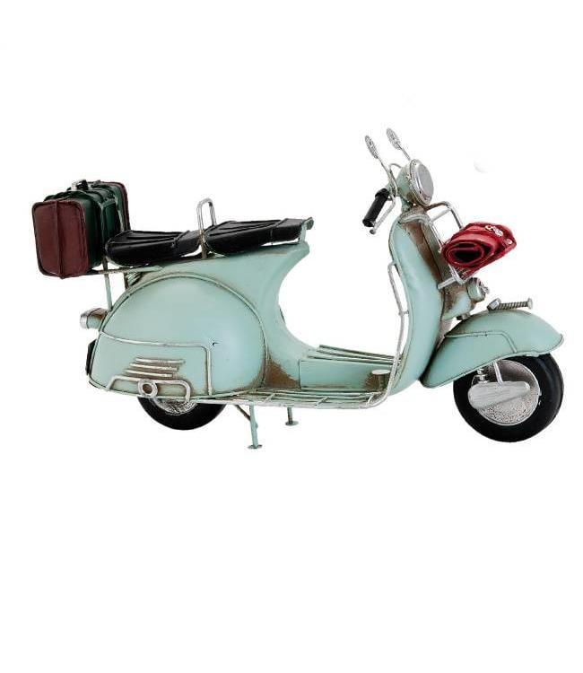 Model Retro Scooter Lichtblauw