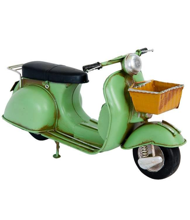 Model Retro Scooter Groen