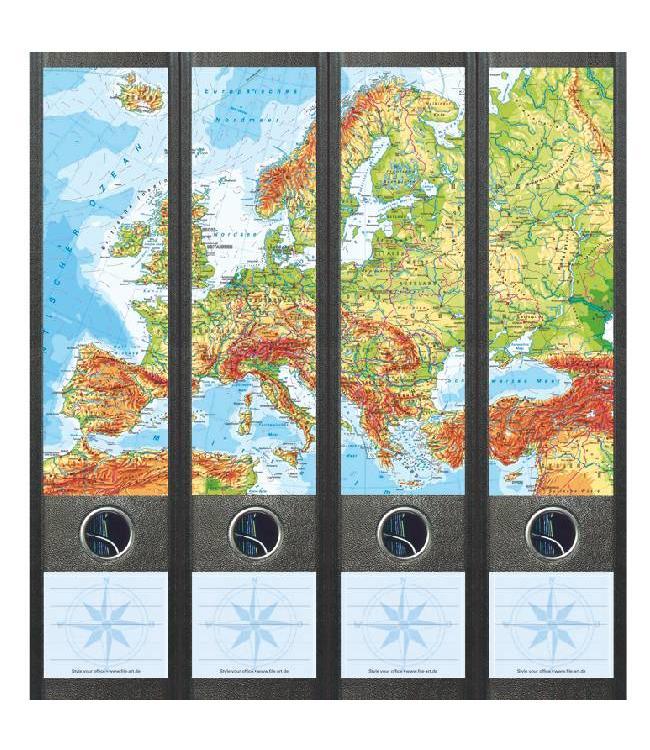 Rugetiket Kaart van Europa