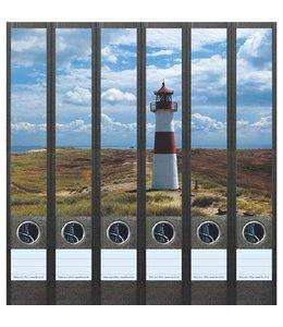 File Art Rugetiket Vuurtoren aan de kust 6 etiketten