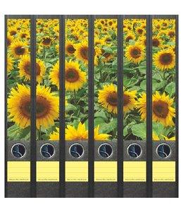 File Art Rugetiket Veld Zonnebloemen 6 etiketten