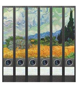 File Art Rugetiket Vincent van Gogh 6 etiketten