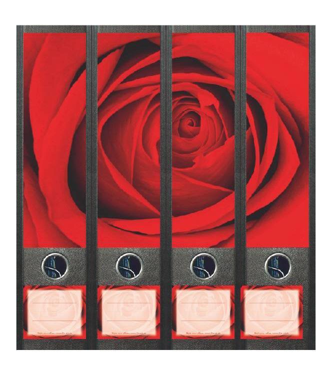 Rugetiket In het hart van de roos