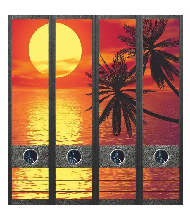 Rugetiket Ondergaande zon met palmen