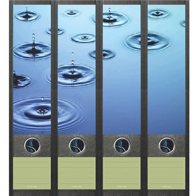 Rugetiket Regendruppels in water