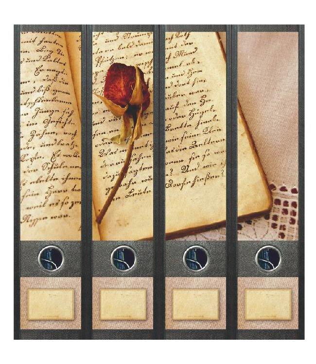 Rugetiket Boek en Roos