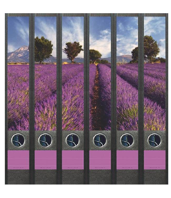 Rugetiket Lavendelveld 6 etiketten
