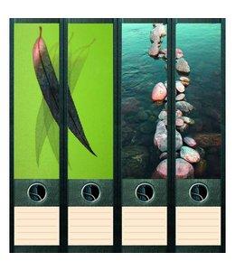 File Art Rugetiket Leaf & Stones