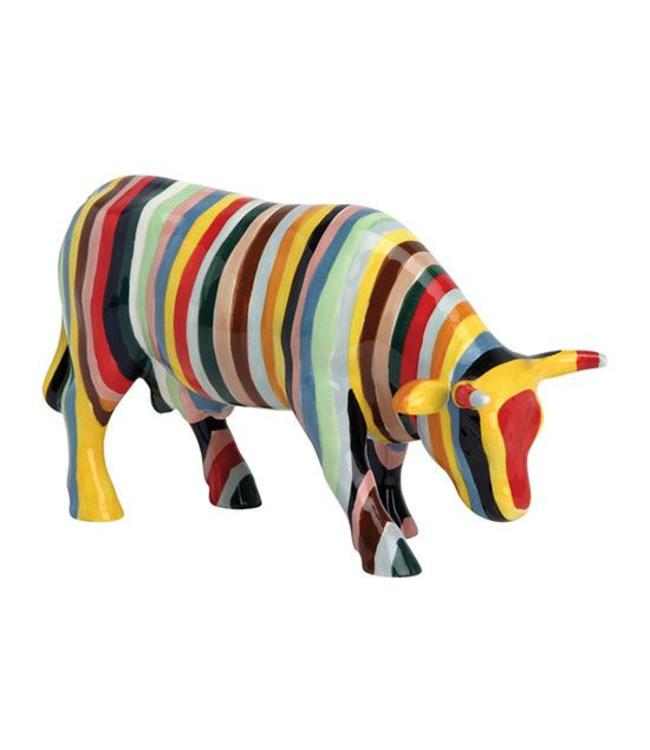 CowParade Cow Parade Striped (medium ceramic)