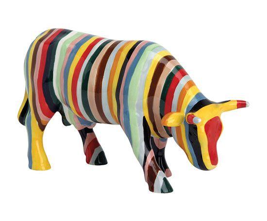Cow Parade Striped (medium ceramic)