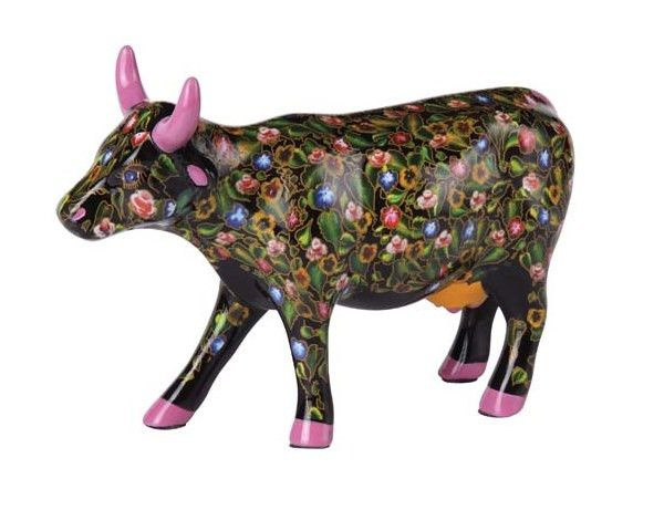 Cow Parade Flower Power Cow (medium ceramic)