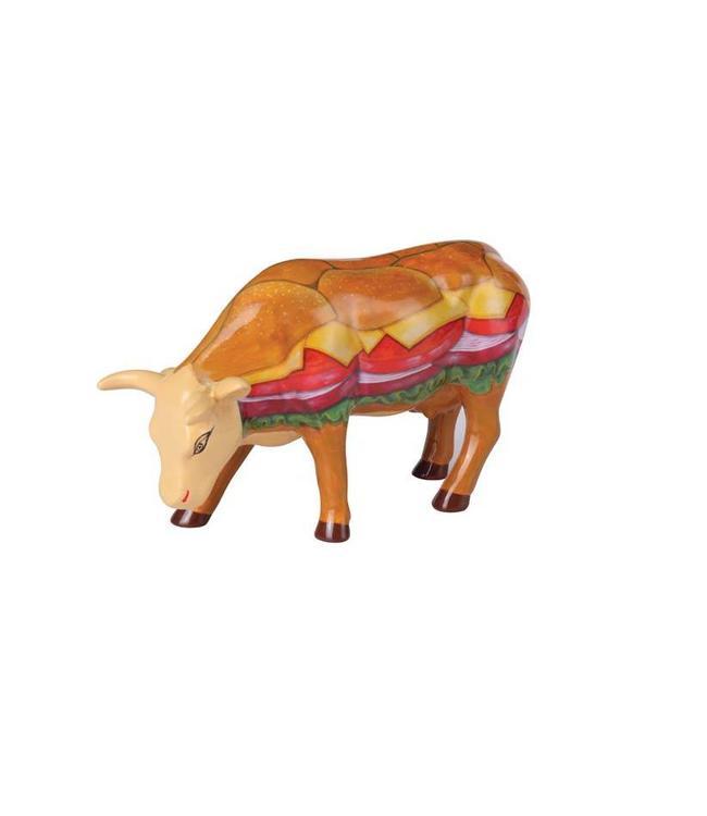 CowParade Cow Parade Moovin Veggie Burger (medium ceramic)
