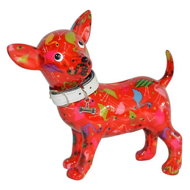 Spaarpot Chihuahua Rood
