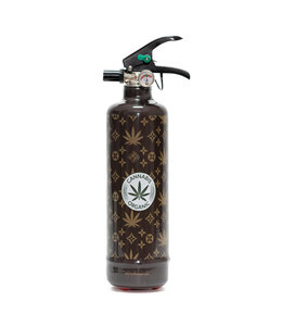 Fire Art Designblusser Cannabis