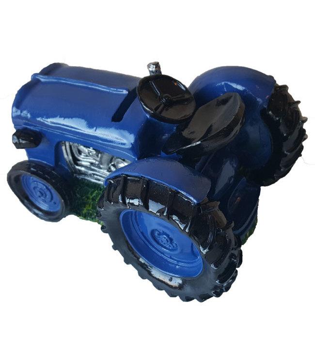 Spaarpot  Tractor - blauw
