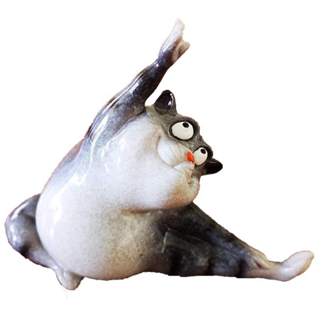 Beeldje Yoga Kat Split