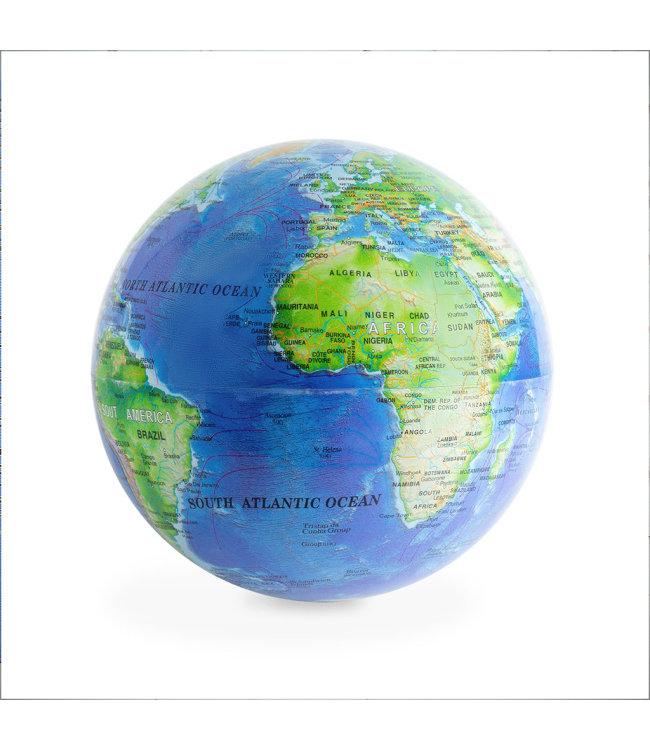 Magische roterende wereldbol globe blauw
