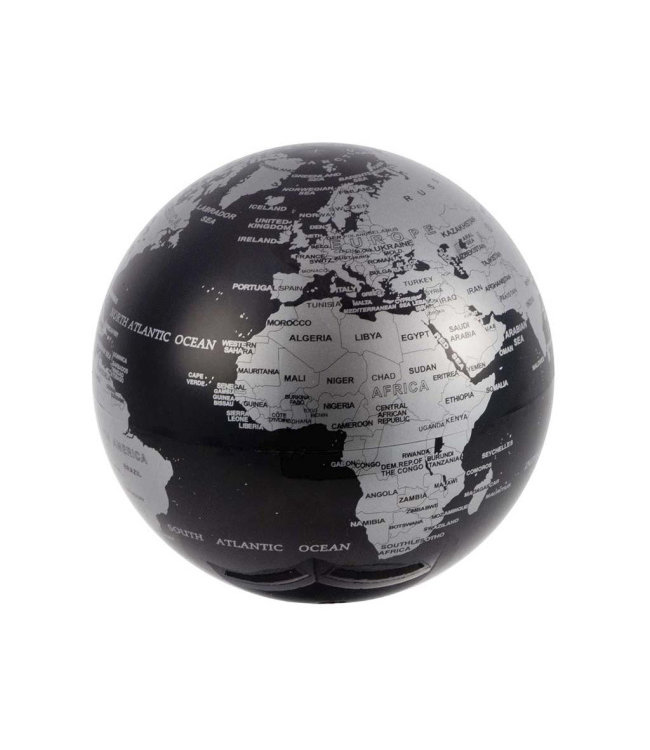 Magische roterende wereldbol globe zwart