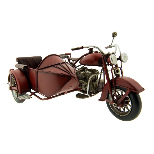Model Retro Motor met zijspan