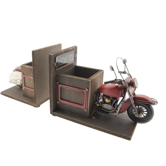 Boekensteun en penhouder Motorfiets