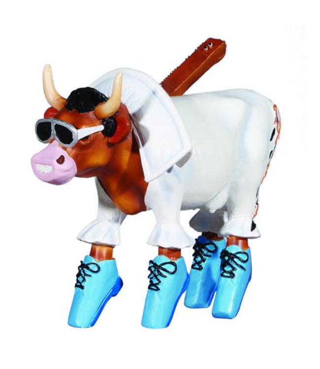 Cow Parade Rock 'n Roll (medium resin)