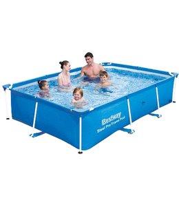 Zwembad met metalen frame - 259x170x61cm