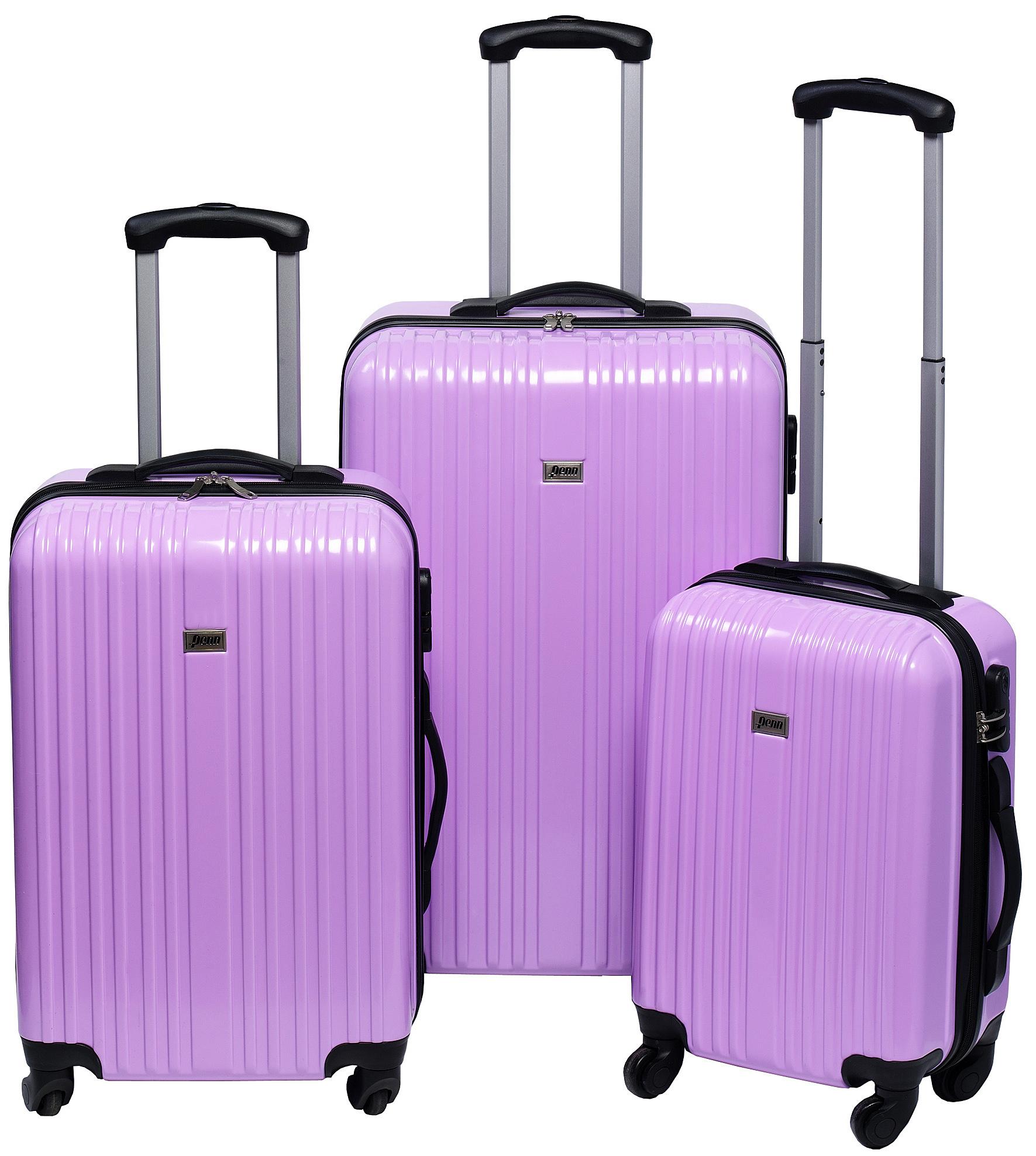 Trolleyset ABS pastel paars (3 dlg)
