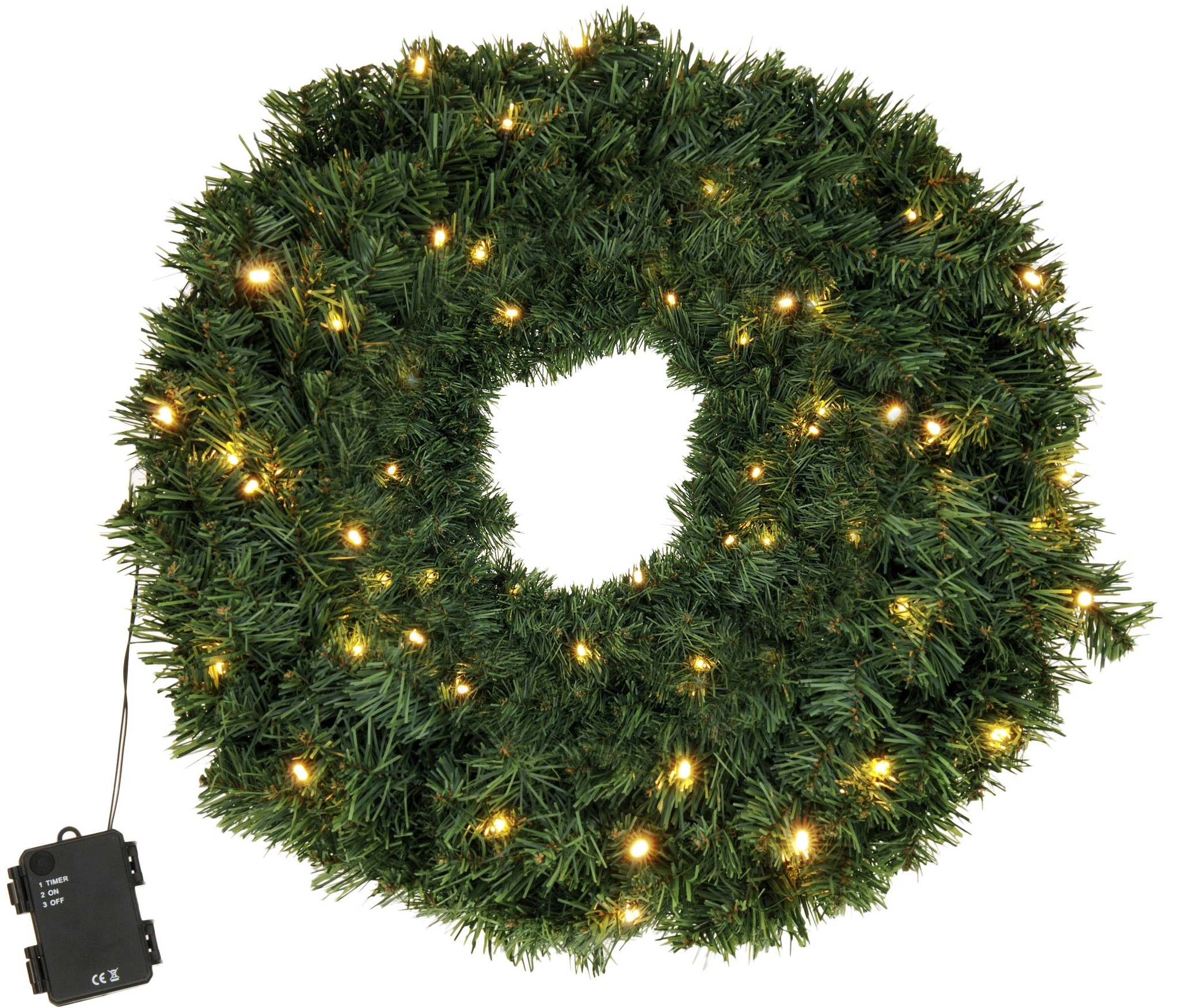 Kerstkrans met LED verlichting 60 cm