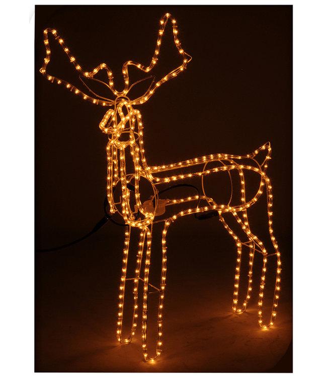 DecorativeLighting Lichtslang rendier met bewegend hoofd, 360 lampjes