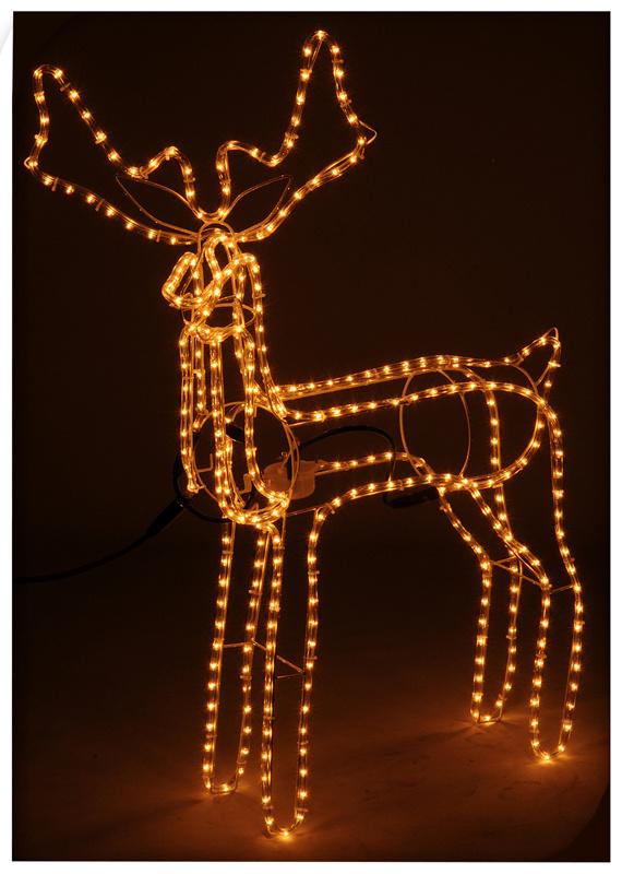 Lichtslang rendier met bewegend hoofd, 360 lampjes
