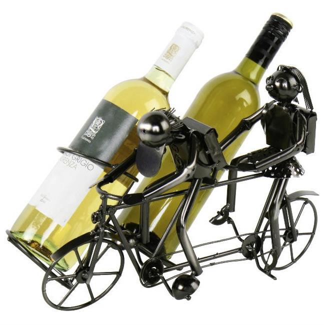 Wijnfleshouder Tandem fiets