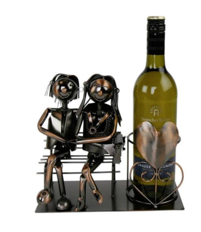 Wijnfleshouder Verliefd stel