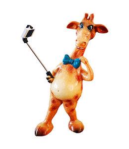 Beeldje Giraffe Selfie