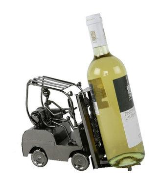 Wijnfleshouder Heftruck