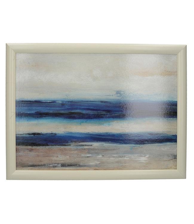 Schootkussen Abstract Blauw