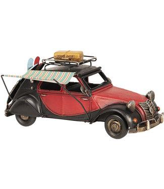 Modelauto Eend Rood/Zwart