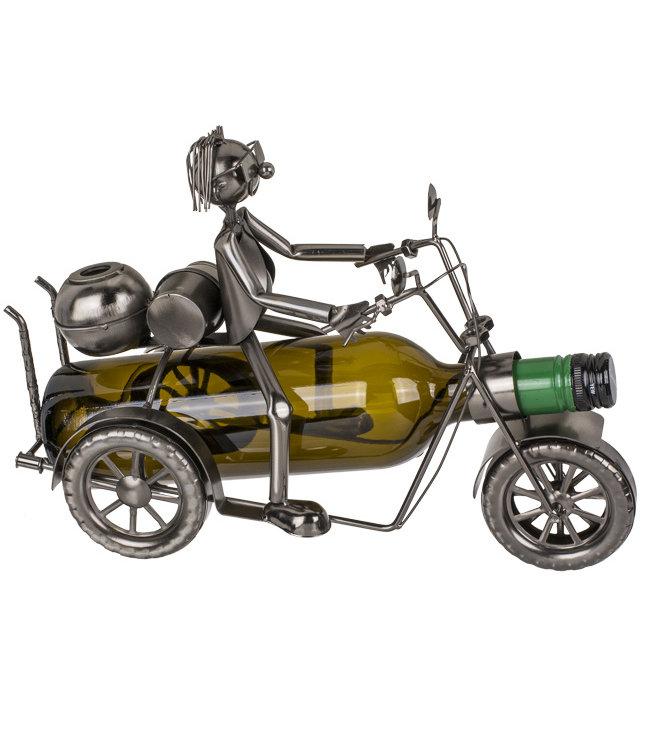 Wijnfleshouder Motorrijder