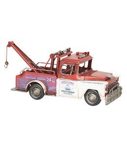 Modelauto Retro Takelwagen USA XL rood