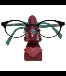 Brillenhouder Rood Met Kleine Spiralen