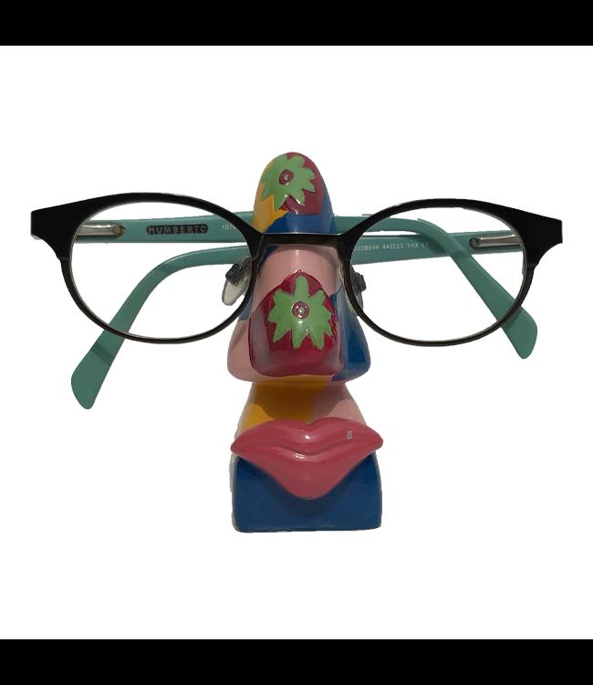 Brillenhouder Gekleurd Met Bloemen