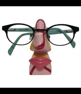 Brillenhouder Roze Met Lijnen