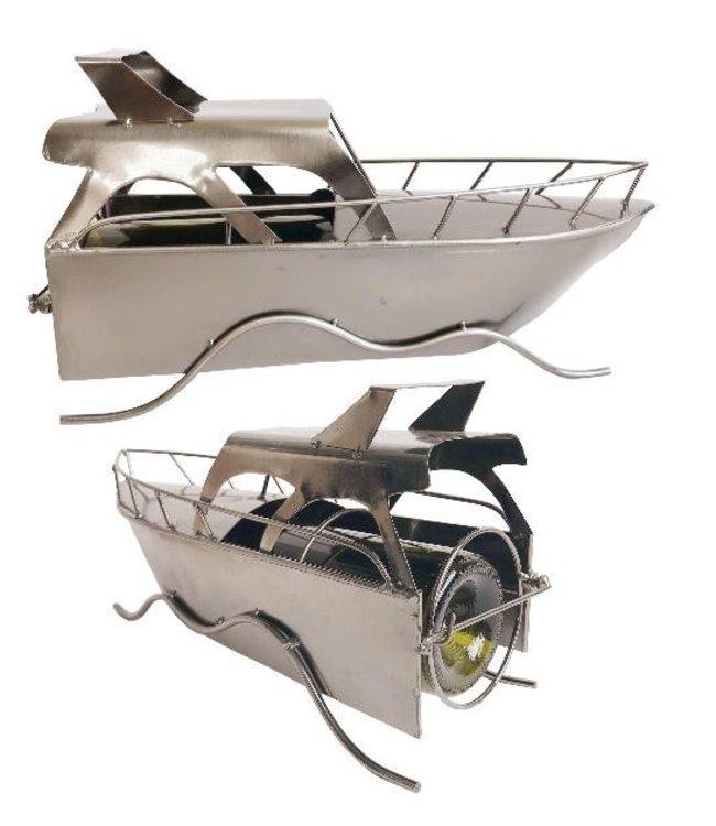Wijnfleshouder Motorboot
