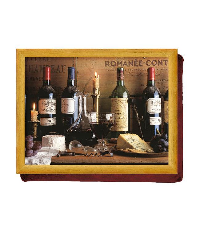Schootkussen Wijn en Kaas