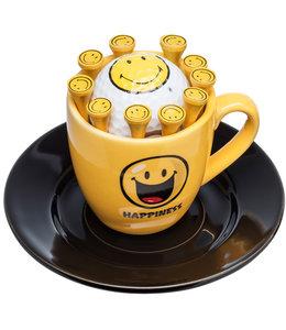 Sportiques Espresso kop en schotel Smiley Happiness