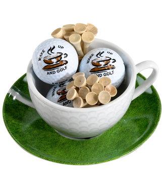 Cappuccino kop en schotel Wake up